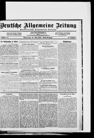Deutsche allgemeine Zeitung vom 27.05.1920