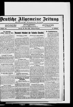 Deutsche allgemeine Zeitung vom 28.05.1920