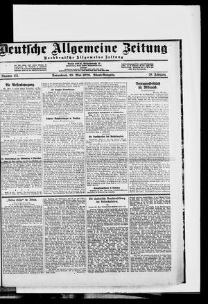 Deutsche allgemeine Zeitung vom 29.05.1920