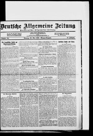 Deutsche allgemeine Zeitung vom 30.05.1920