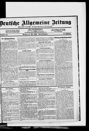 Deutsche allgemeine Zeitung vom 31.05.1920