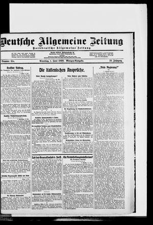 Deutsche allgemeine Zeitung vom 01.06.1920