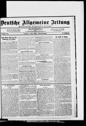 Deutsche allgemeine Zeitung vom 04.06.1920