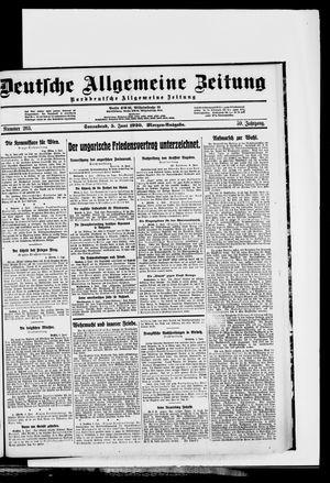 Deutsche allgemeine Zeitung vom 05.06.1920