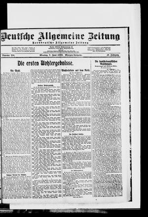 Deutsche allgemeine Zeitung on Jun 7, 1920