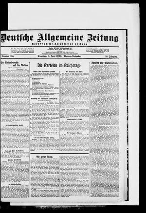 Deutsche allgemeine Zeitung vom 08.06.1920