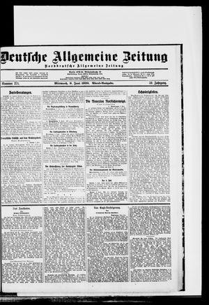 Deutsche allgemeine Zeitung vom 09.06.1920