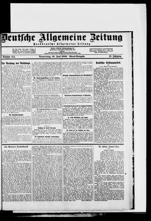 Deutsche allgemeine Zeitung vom 10.06.1920