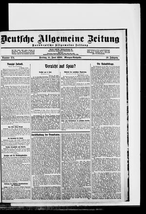 Deutsche allgemeine Zeitung on Jun 11, 1920