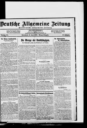 Deutsche allgemeine Zeitung vom 12.06.1920