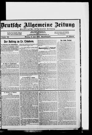 Deutsche allgemeine Zeitung vom 14.06.1920