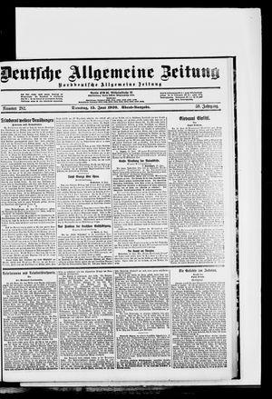 Deutsche allgemeine Zeitung vom 15.06.1920