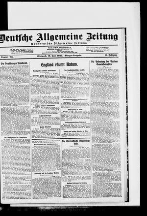 Deutsche allgemeine Zeitung vom 16.06.1920