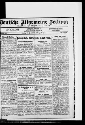 Deutsche allgemeine Zeitung vom 18.06.1920