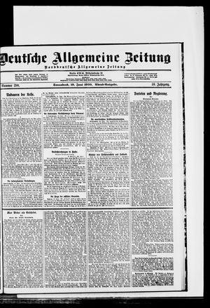 Deutsche allgemeine Zeitung vom 19.06.1920