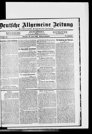 Deutsche allgemeine Zeitung vom 20.06.1920