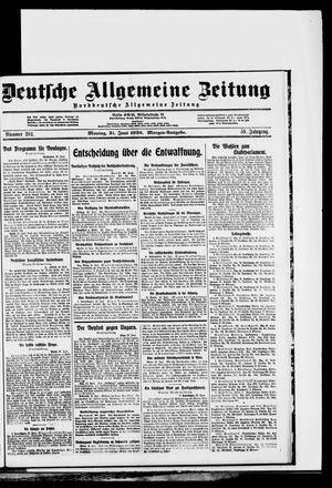 Deutsche allgemeine Zeitung vom 21.06.1920