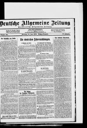 Deutsche allgemeine Zeitung on Jun 22, 1920
