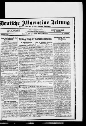 Deutsche allgemeine Zeitung vom 23.06.1920