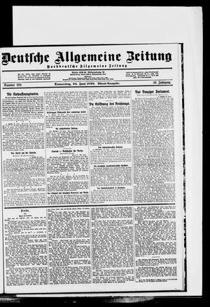 Deutsche allgemeine Zeitung on Jun 24, 1920