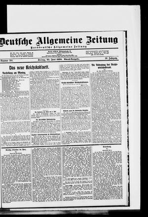 Deutsche allgemeine Zeitung vom 25.06.1920