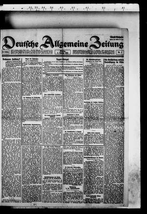 Deutsche allgemeine Zeitung vom 03.01.1921