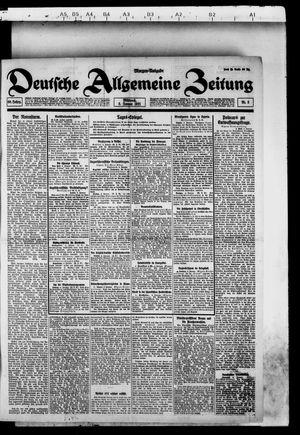 Deutsche allgemeine Zeitung vom 05.01.1921