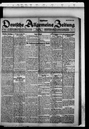 Deutsche allgemeine Zeitung vom 06.01.1921