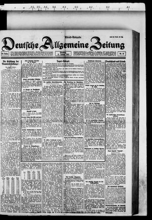Deutsche allgemeine Zeitung vom 11.01.1921