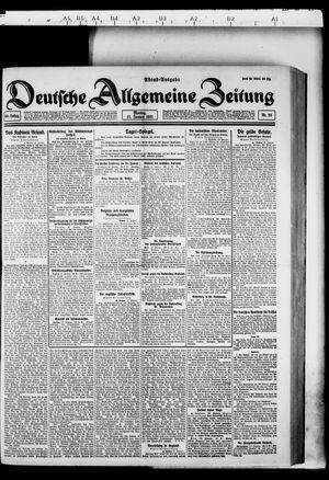 Deutsche allgemeine Zeitung vom 17.01.1921