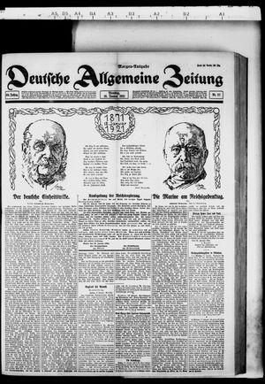 Deutsche allgemeine Zeitung vom 18.01.1921