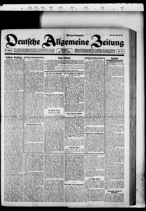 Deutsche allgemeine Zeitung vom 19.01.1921