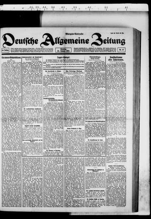 Deutsche allgemeine Zeitung on Jan 23, 1921