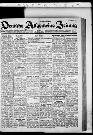 Deutsche allgemeine Zeitung vom 25.01.1921