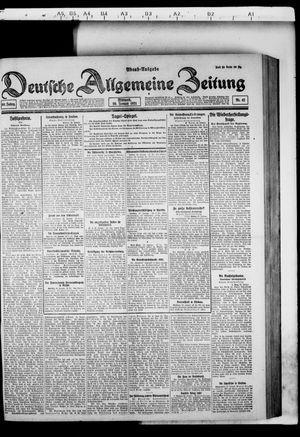 Deutsche allgemeine Zeitung vom 26.01.1921