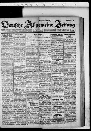 Deutsche allgemeine Zeitung vom 27.01.1921