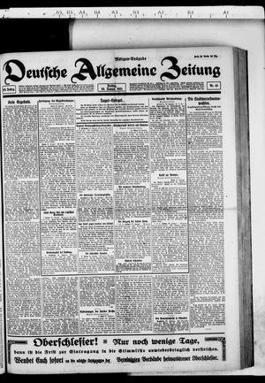Deutsche allgemeine Zeitung vom 28.01.1921
