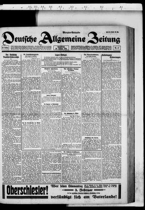 Deutsche allgemeine Zeitung on Jan 29, 1921