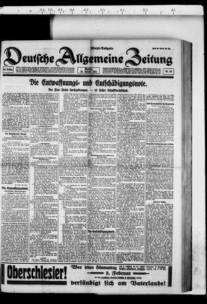 Deutsche allgemeine Zeitung vom 31.01.1921