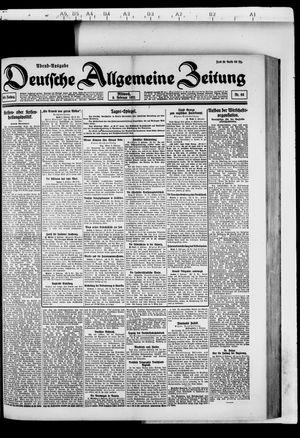 Deutsche allgemeine Zeitung vom 09.02.1921