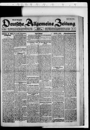 Deutsche allgemeine Zeitung vom 14.02.1921