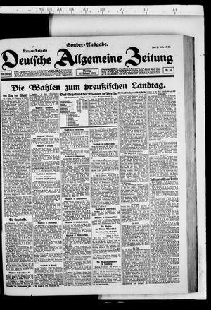 Deutsche allgemeine Zeitung vom 21.02.1921