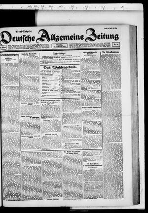 Deutsche allgemeine Zeitung vom 22.02.1921