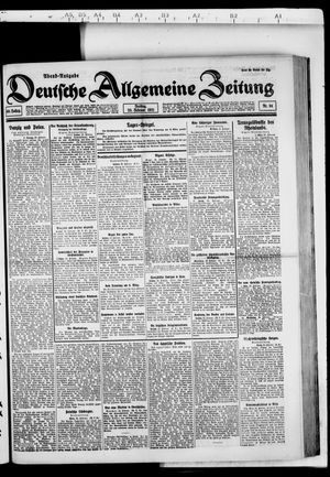 Deutsche allgemeine Zeitung vom 25.02.1921