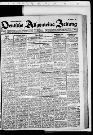 Deutsche allgemeine Zeitung vom 27.02.1921