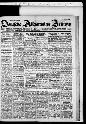 Deutsche allgemeine Zeitung vom 11.03.1921