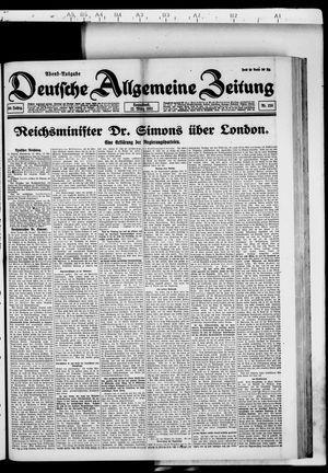 Deutsche allgemeine Zeitung vom 12.03.1921