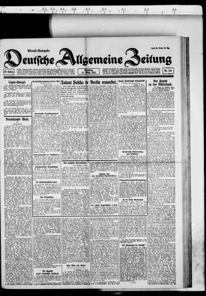 Deutsche allgemeine Zeitung vom 15.03.1921