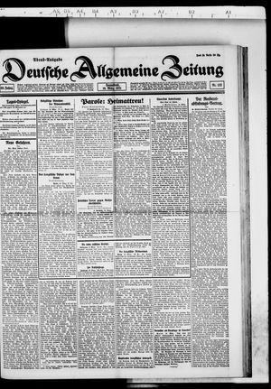 Deutsche allgemeine Zeitung vom 19.03.1921