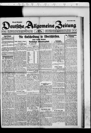 Deutsche allgemeine Zeitung vom 21.03.1921
